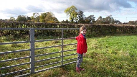 Девочка на ферме