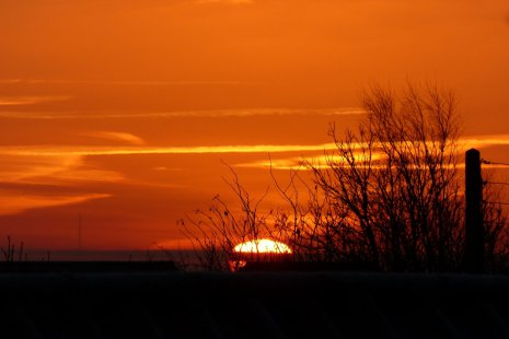 Оранжевый закат